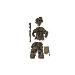 Tenue Mil-tec GHILLIE WOODLAND Anti Feu 4PC 02