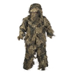 Tenue GHILLIE WOODLAND Anti Feu 4PC De Miltec 01