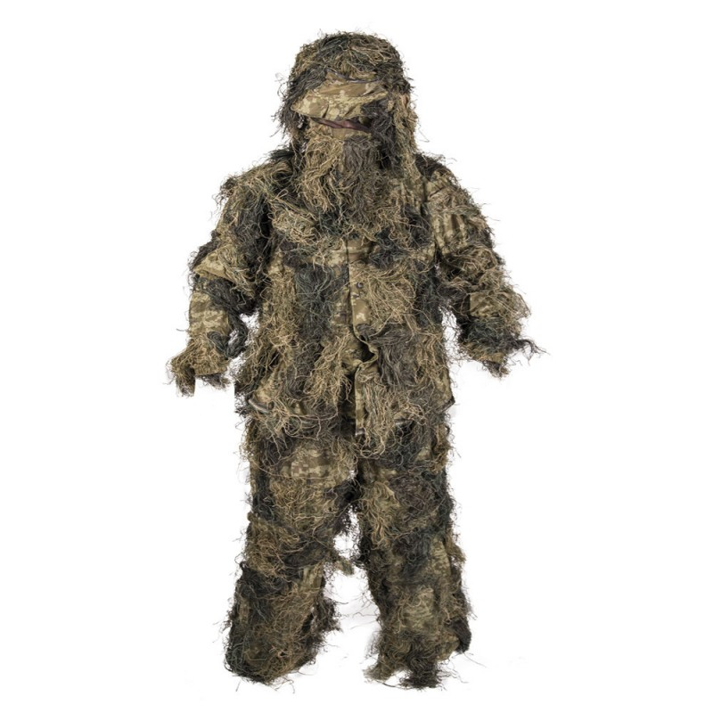 Tenue Mil-tec GHILLIE WOODLAND Anti Feu 4PC 01