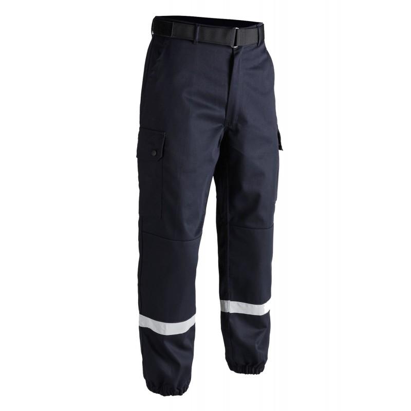 Pantalon T.O.E F2 Bandes Rétro-Réfléchissantes Bleu 01