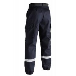 Pantalon T.O.E F2 Bandes Rétro-Réfléchissantes Bleu 02