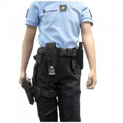Porte-aérosol anti-agression 300 ml avec poignée Noir/Cam.-3