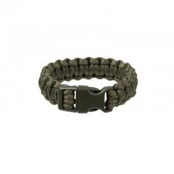 Bracelet Paracorde Mil-Tec Fermeture à Clip 22MM vert od  05
