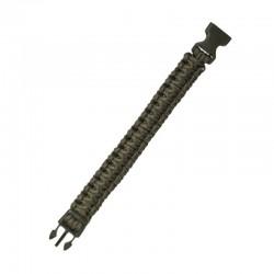 Bracelet Paracorde Mil-Tec Fermeture à Clip 22MM vert od 06