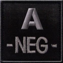 Écusson Brodé Groupe Sanguin T.O.E Noir 06