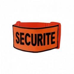 Brassard Brodé Tissu Orange Sécurité 01
