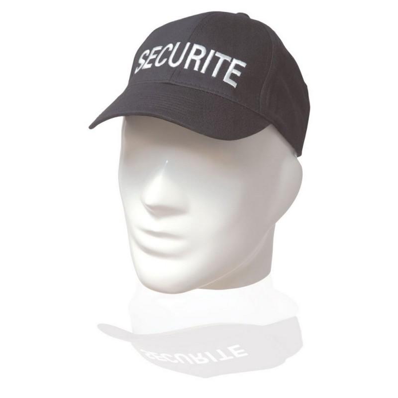 Casquette Noir Brodée Sécurité 01
