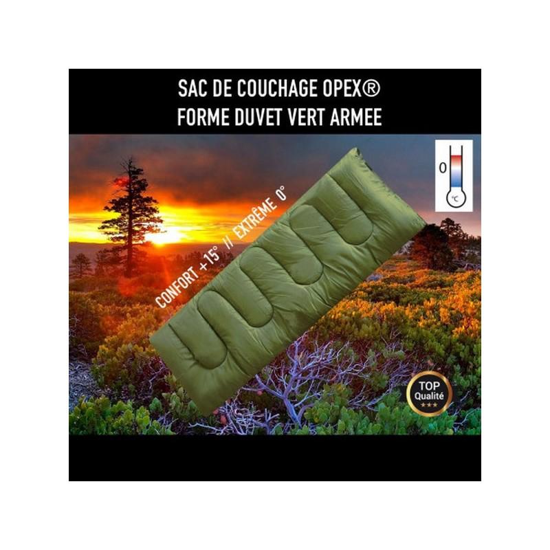 Sac De Couchage Opex Forme Duvet Vert Armée 01