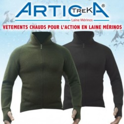 Veste Artica Trek 400G Merinos Vert  01