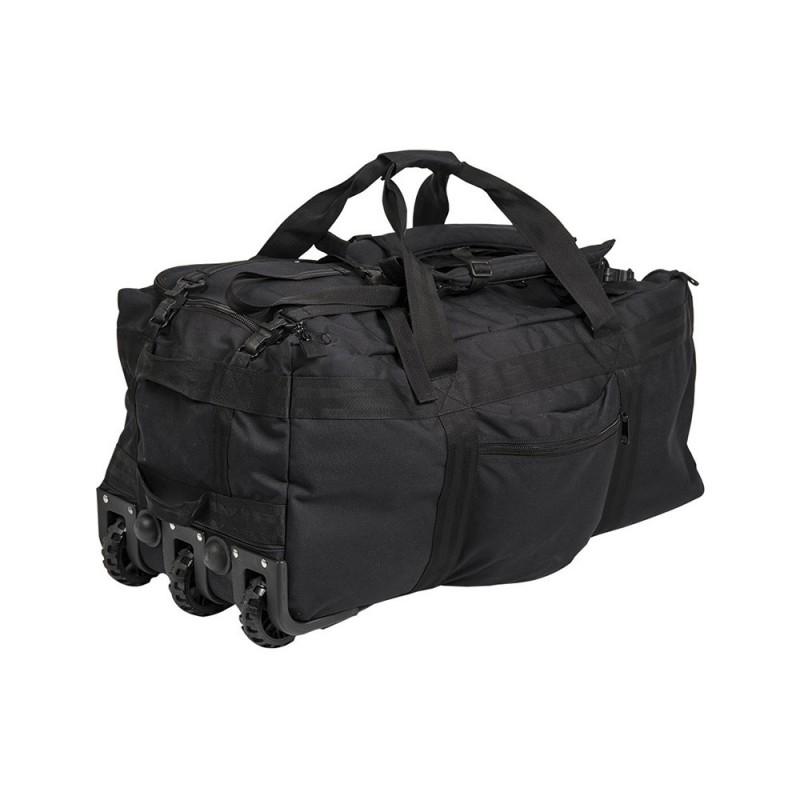 Sac de Transport Miltec Commando 120 litres à roulettes Noir / Vert 03
